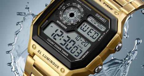 Bon plan : 61 euros de réduction sur la montre SKMEI classique étanche décontractée en acier inoxydable